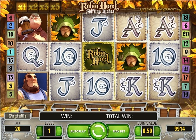 Robin Hood Shifting Riches Slots for Real Money-NetEnt Slots