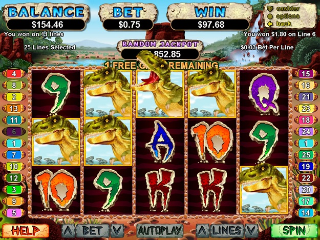 t-rex slot machine free - 3