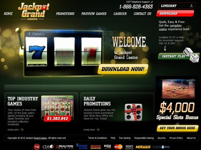 grand online casino online jackpot games
