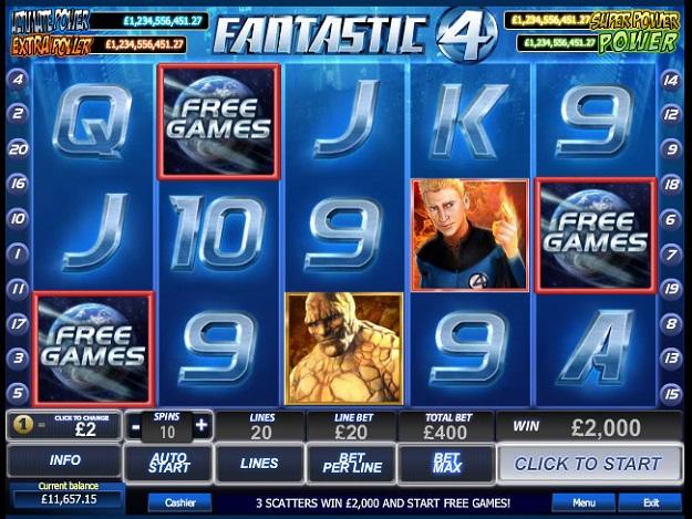 Free Slot Machine Fantastic Four