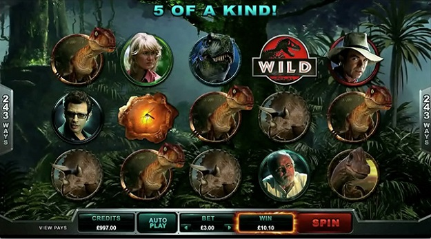 Jurassic Park Slot Machine