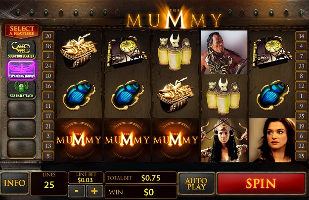 the mummy slot machine online